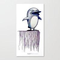 Daily Doodle - Linux2 Canvas Print