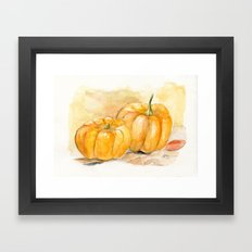 Mini Pumpkins II Framed Art Print