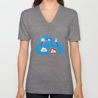The Great Rainbow Cloud Robbery Unisex V-Neck