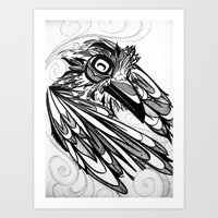 Raven's Escape Art Print