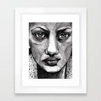 Pencil Portrait Framed Art Print