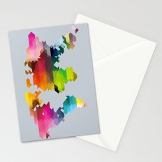 Geo World Map Stationery Cards