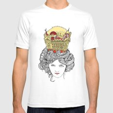 The Queen of Montreal White SMALL Mens Fitted Tee