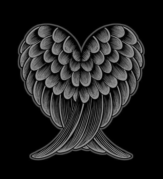 Heart Wings [Reversed Version] Canvas Print
