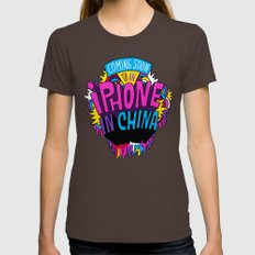 Coming Soon to an iPhone in China! Womens Fitted Tee Brown SMALL