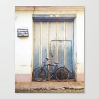 Bird and Bicycle. Canvas Print