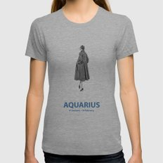 Aquarius Womens Fitted Tee Athletic Grey SMALL