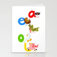 Vowels (spanish) Stationery Cards