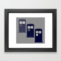 The Materializing TARDIS Framed Art Print