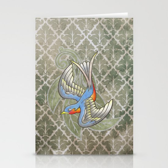 Sparrow tattoo Stationery Card