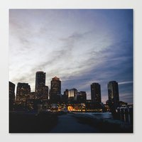 Christmas In Boston Canvas Print
