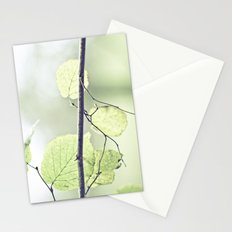Last leaves of Fall Stationery Cards