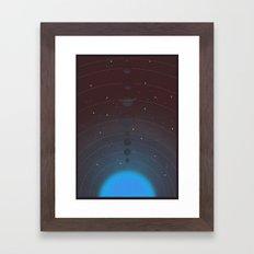 Halftone Blue Star Framed Art Print