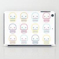 robo skull iPad Case