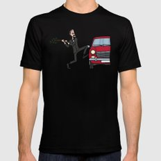 Basil's Fury Black SMALL Mens Fitted Tee