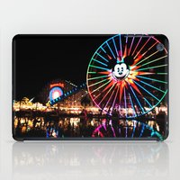 Paradise Pier at Night iPad Case