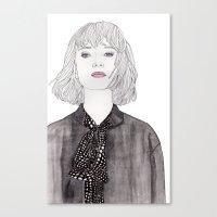 Pastel Girl 2 Canvas Print
