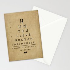 Run You Clever Boy - Doctor Who Vintage Eye Exam Chart Stationery Cards