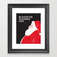 Christmas Be Good Framed Art Print