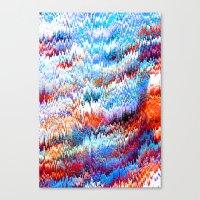 Forest Pixels Canvas Print