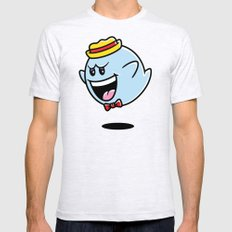 Super Cereal Ghost SMALL Mens Fitted Tee Ash Grey