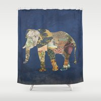Elephant - The Memories … Shower Curtain