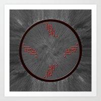 Clock....? Art Print