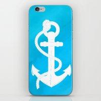 White Anchor iPhone & iPod Skin