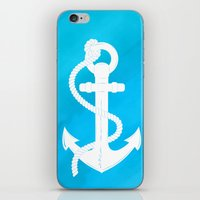White Anchor iPhone & iPod Skin