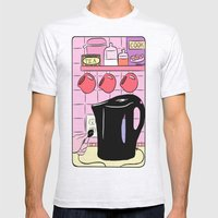 Making Tea: Plug In Your Kettle Mens Fitted Tee Ash Grey SMALL