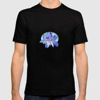 FLOWERS - Geranium endressii Mens Fitted Tee Black SMALL