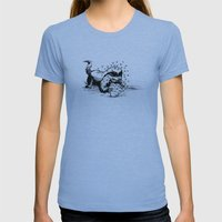Honey Badger Womens Fitted Tee Athletic Blue SMALL