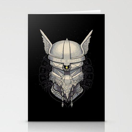 Viking robot Stationery Card