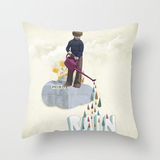 Rain Machine Throw Pillow