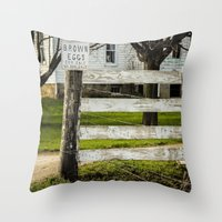 Brown Eggs for Sale Throw Pillow