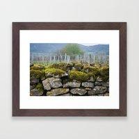 Vineyard Wall, Eastern France Framed Art Print