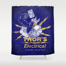 Thor - Thor's Electrical Shower Curtain