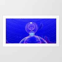 Alien Of The Abyss  Art Print