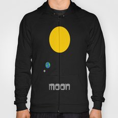 The Moon in Minimal Hoody
