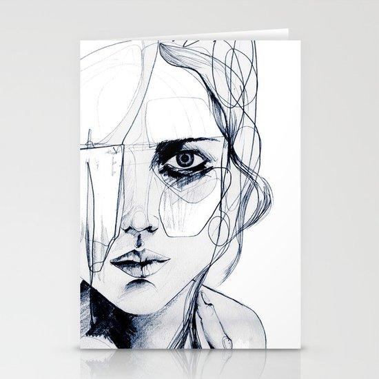 Sketch V Stationery Card
