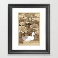 The Duck Framed Art Print