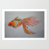 Goldfish Pond (close Up … Art Print