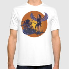 Medusa of Music meets Lilith Mens Fitted Tee White SMALL