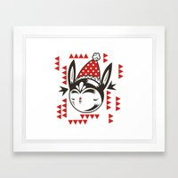 Red Remy Framed Art Print