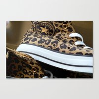 Converse leopard All Stars Canvas Print
