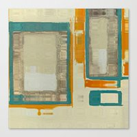 Mid Century Modern Abstr… Canvas Print
