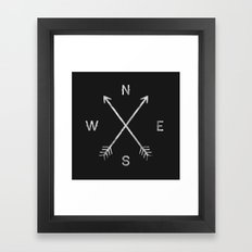 Compass Framed Art Print