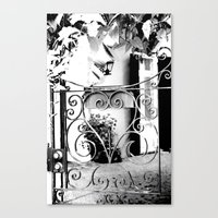 through this gate... Canvas Print