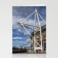 Stationery Card featuring Millenium Stadium, Cardiff. by Becky Dix