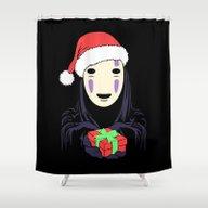 Kaonashi's Trap! Shower Curtain